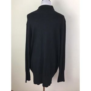 Lane Bryant Sweaters - Lane Bryant Black Keyhole Stretch Sweater 22/24